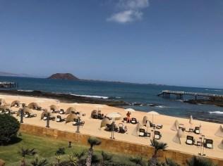 Beach with Isla de Lobos in the background