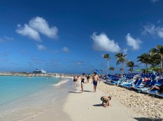 Beautiful beach at Great Stirrup Cay
