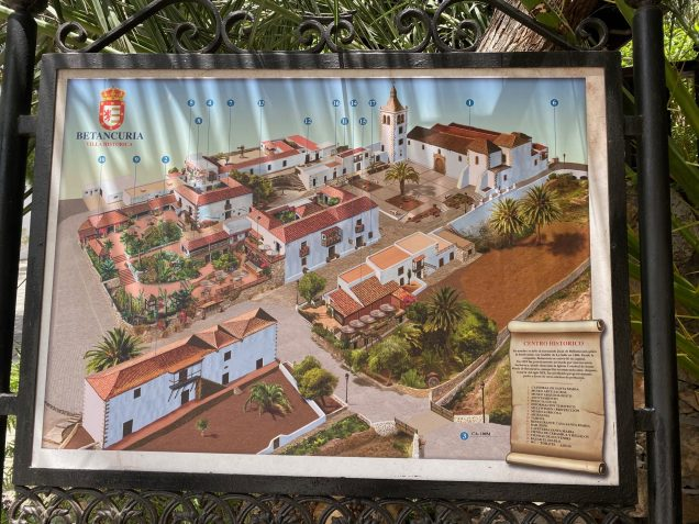 Map of the historic town Betancuria