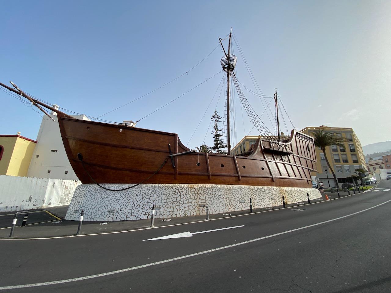replica of Christopher Columbus's ship, Santa María