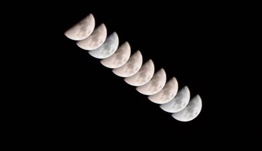 月の軌跡|インターバル撮影をしてみました