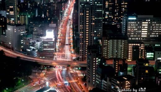 手持ちと三脚を使用して東京タワー展望台からの撮影