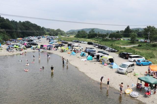 埼玉県の無料キャンプ場_学校橋河原