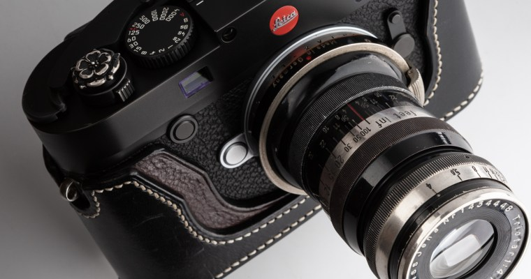 Triotar 8.5cmF4 <br>外爪コンタックスCで距離計連動