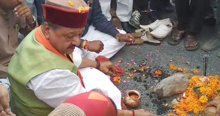 महु  : BJP महासचिव कैलाश विजयवर्गीय ने किया भूमिपूजन