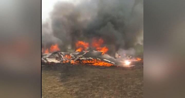 जोधपुर में वायुसेना का फाइटर प्लेन क्रैश हुआ