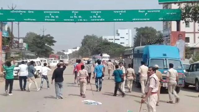 सतना में CM शिवराज का विरोध, पथराव के बाद पुलिस ने लिया एकशन