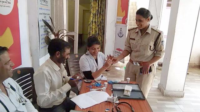 विदिशा गुलमोहर सेंटर में हेल्थ चेकअप कैम्प हुआ आयोजित
