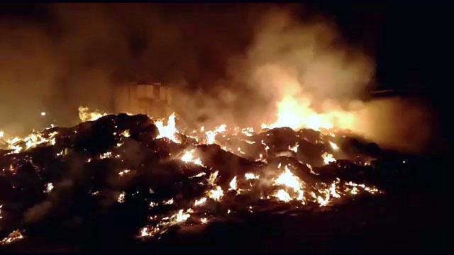 Fire in Paper Mill