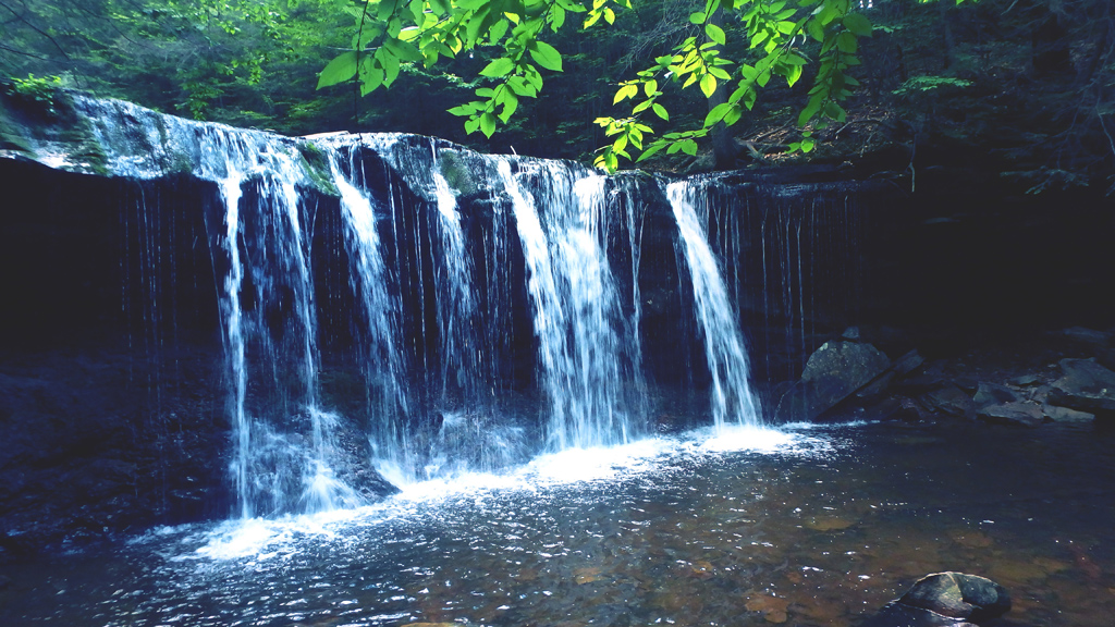 Waterfalls at Ricketts Glenn State Park, Pennsylvania