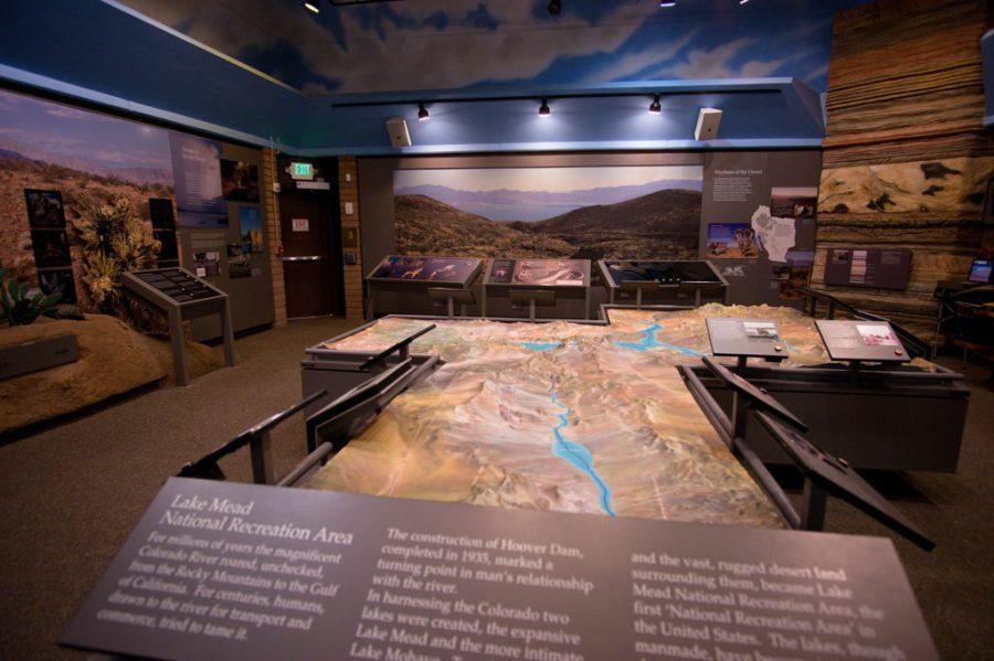 Inside Lake Mead Visitors Center