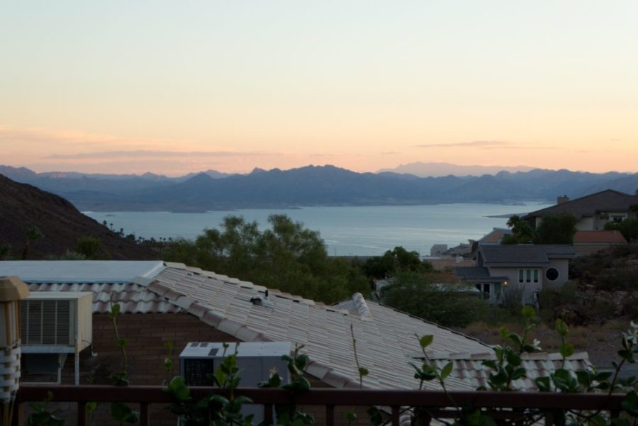 Beautiful view of Lake Mead from Airbnb location.