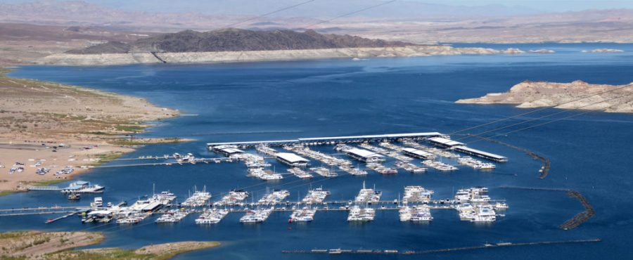 Lake Mead Marina from an overlook.