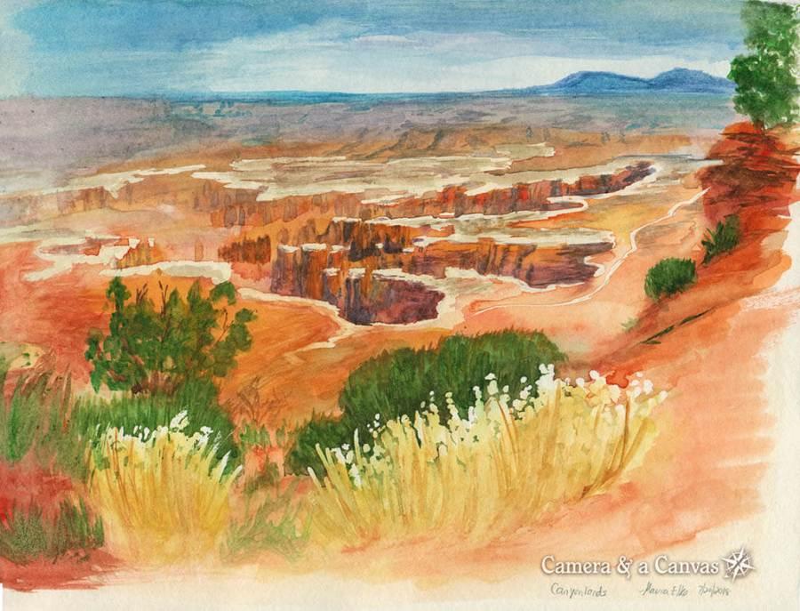 Watercolor painting Canyonlands National Park