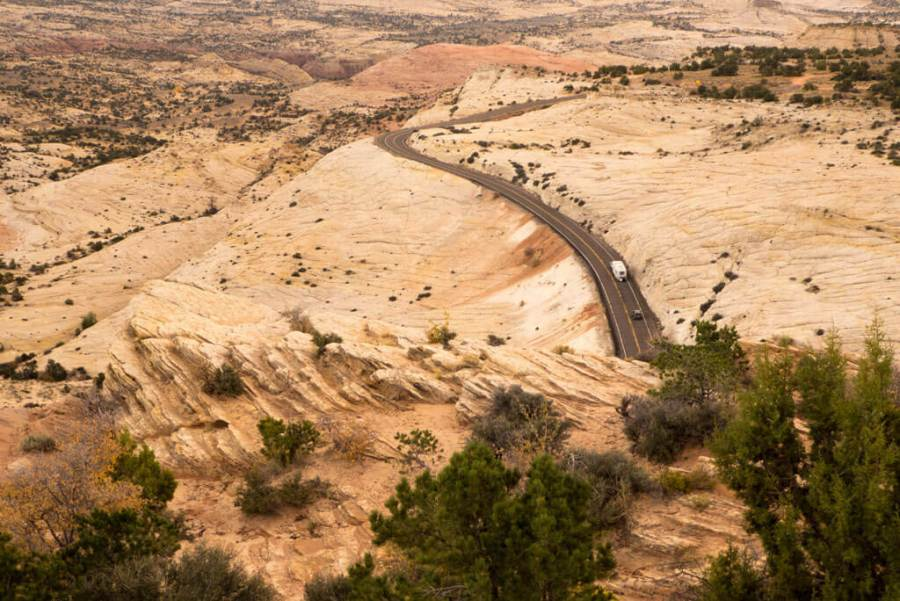 The Drive from Capitol Reef to Bryce goes through Grand Staircase Escalante National Monument