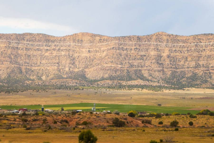 Mountain range near Escalante Utah