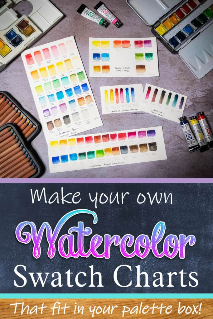 Make your own Watercolor Swatches!