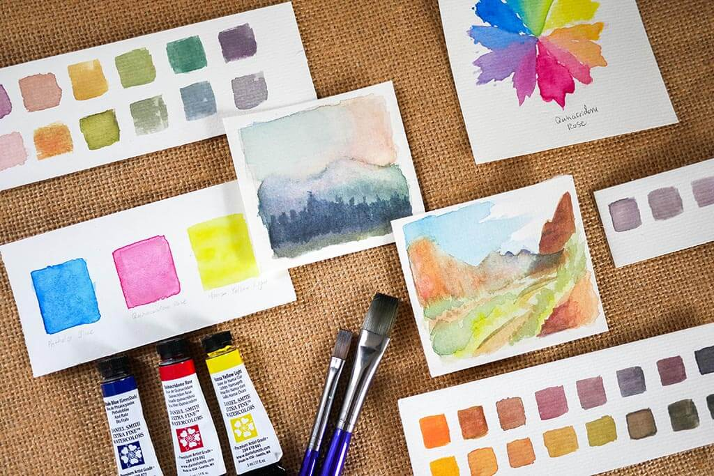 watercolor swatches, studies