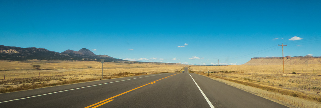 Driving from the Four Corners to Mesa Verde, Cortez, CO