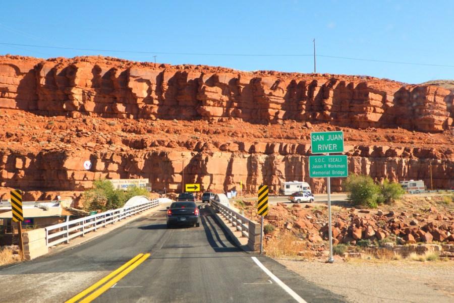Crossing the San Juan River into Mexican Hat, Utah