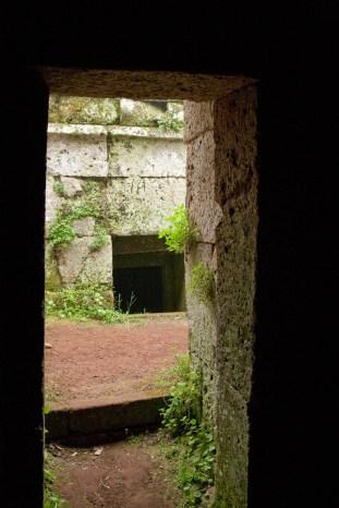 Etruscan tomb doorway