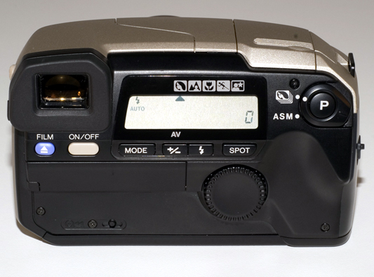 Minolta Vectis S-1 (rear view). Courtesy of www.collection-appareils.fr