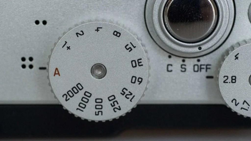 Leica X-U (Typ 113) shutter speed dial