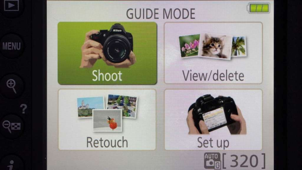 Nikon D3400 Guide Mode