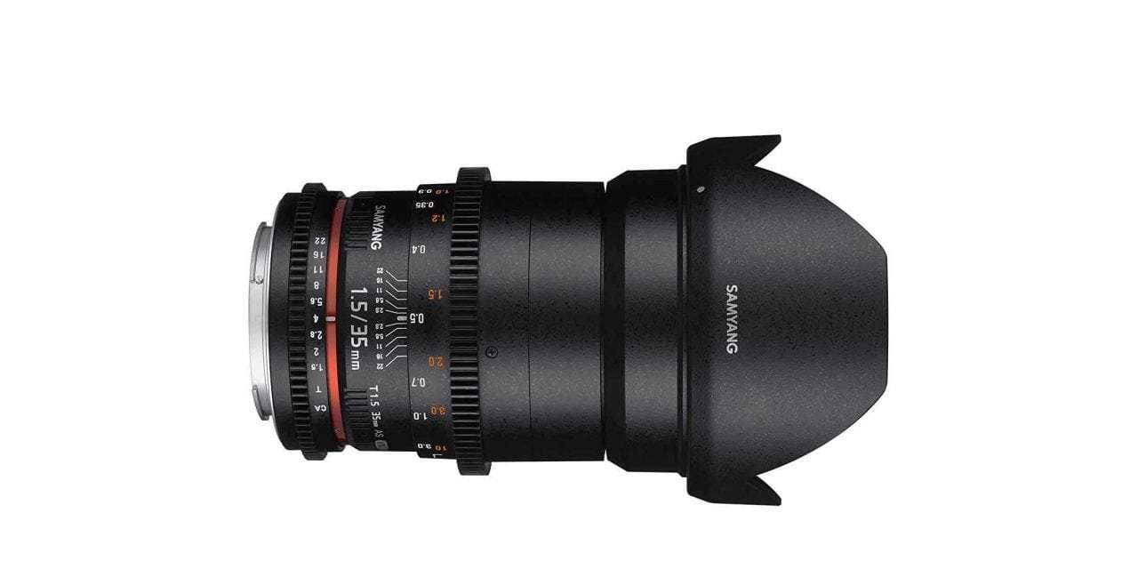 Daily Deal: save up to 20% on Samyang's 35mm T1.5 video lens