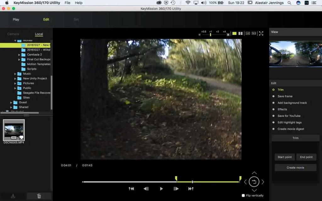 Nikon KeyMission 360/170 Utility - Set in point