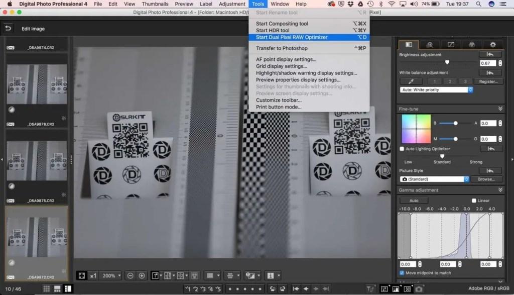 Canon DPP Dual Pixel Raw Optimizer
