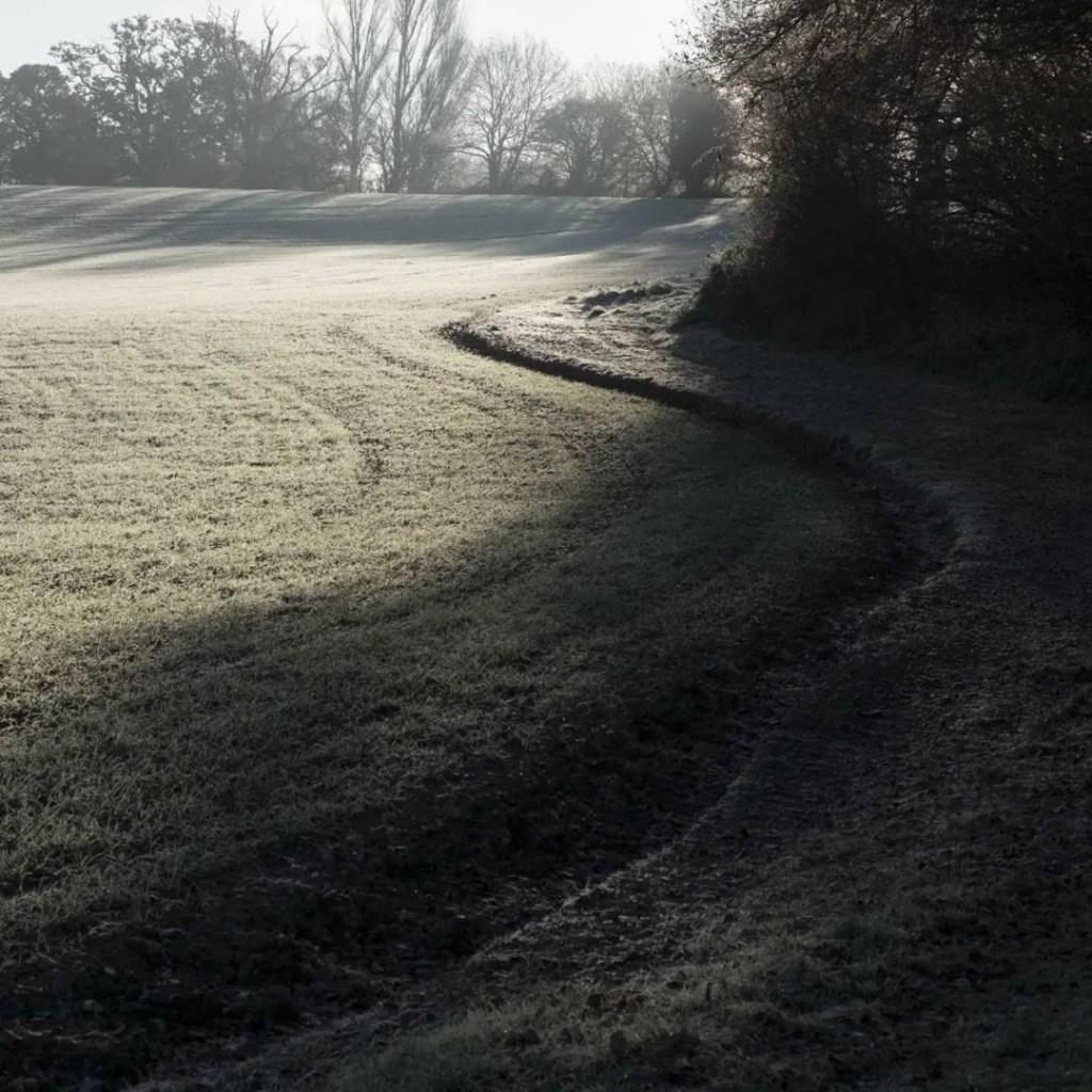 A path in a frosty field