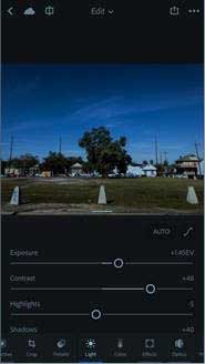 What features are in Lightroom Mobile (iOS 2.6 and Android 2.2.2)