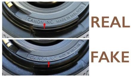 Canon warns against fake 50mm f/1.8 lenses