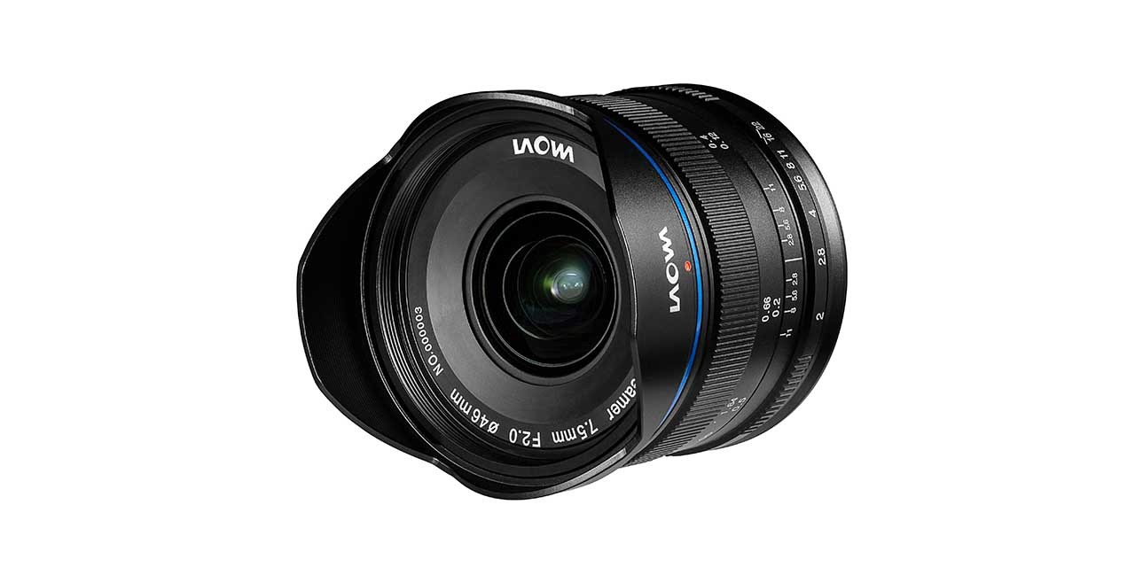 Laowa 7.5mm f/2 is the world's widest rectilinear f/2 for Micro Four Thirds