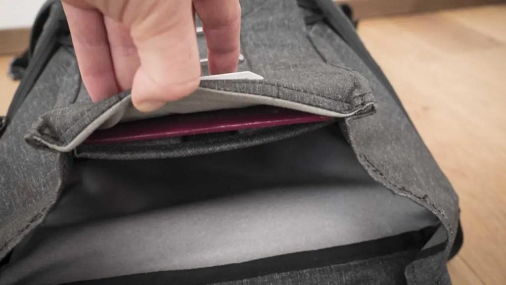 Peak Design Everyday Backpack 20L Review - Passport pocket