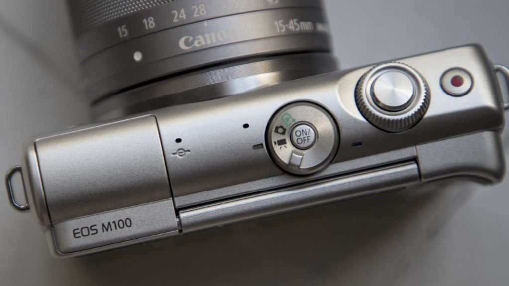 Canon EOS M100 Review Top-plate
