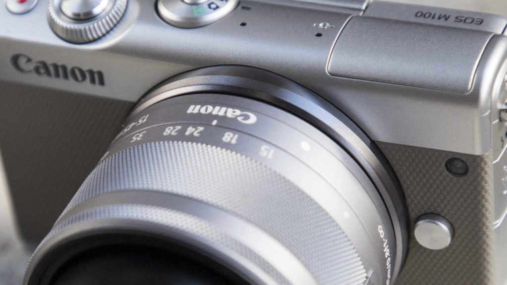 Canon EOS M100 review front