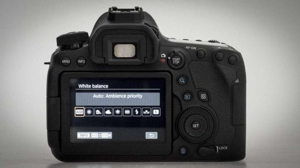 Canon EOS 6D Mark II Review: white balance settings