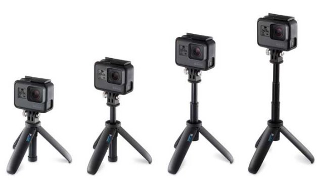 GoPro's new Bite Mount, Handler floating grip, Shorty extension pole/tripod now available