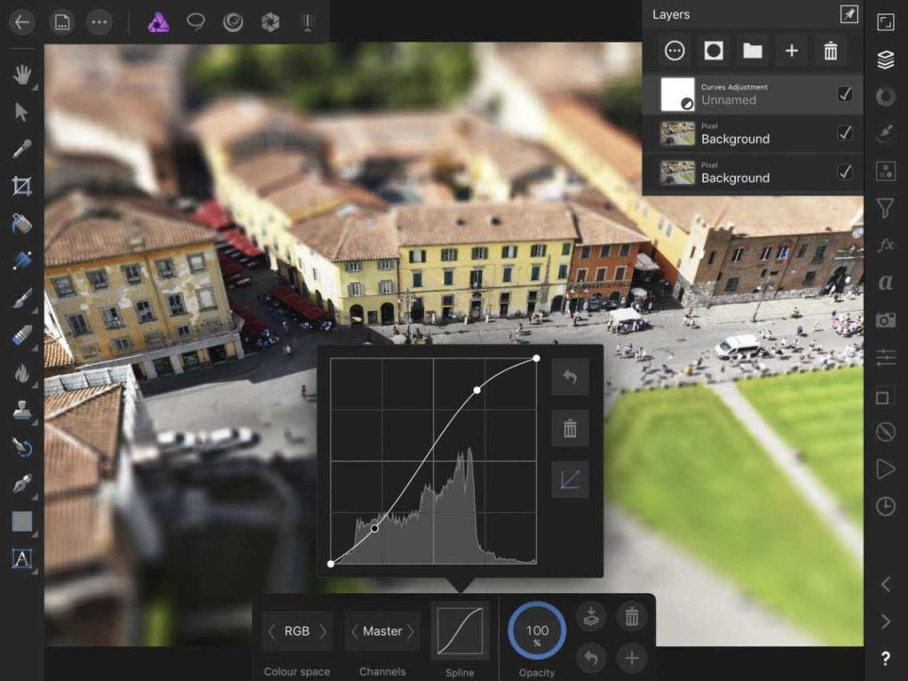 How to use Affinity Photo iPad edition