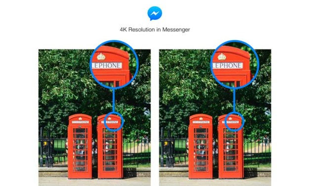 Facebook adds 4K image capability to Messenger app