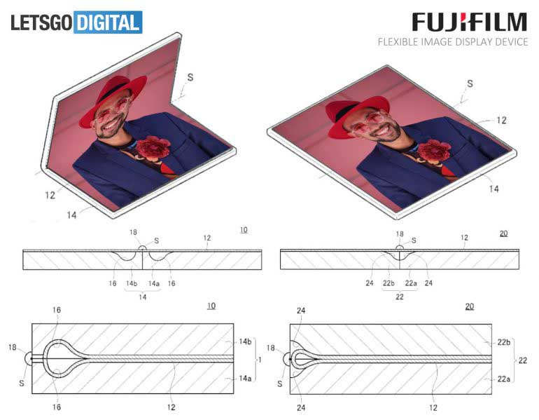 Fujifilm files patent for foldable image display device
