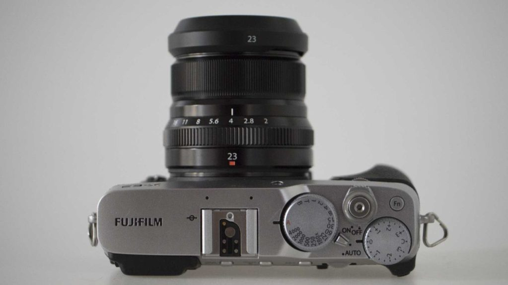 Fujfilm X-E3 Review top of camera