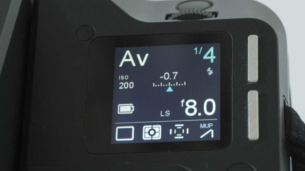 Phase One XF IQ3 Achromatic Review: Status screen