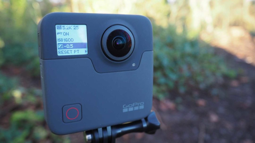 Adjusting camera settings on the GoPro Fusion