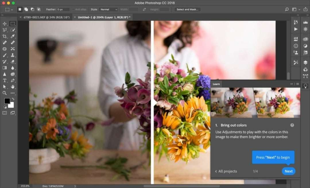 Photoshop CC 2018 review: Learn Panel
