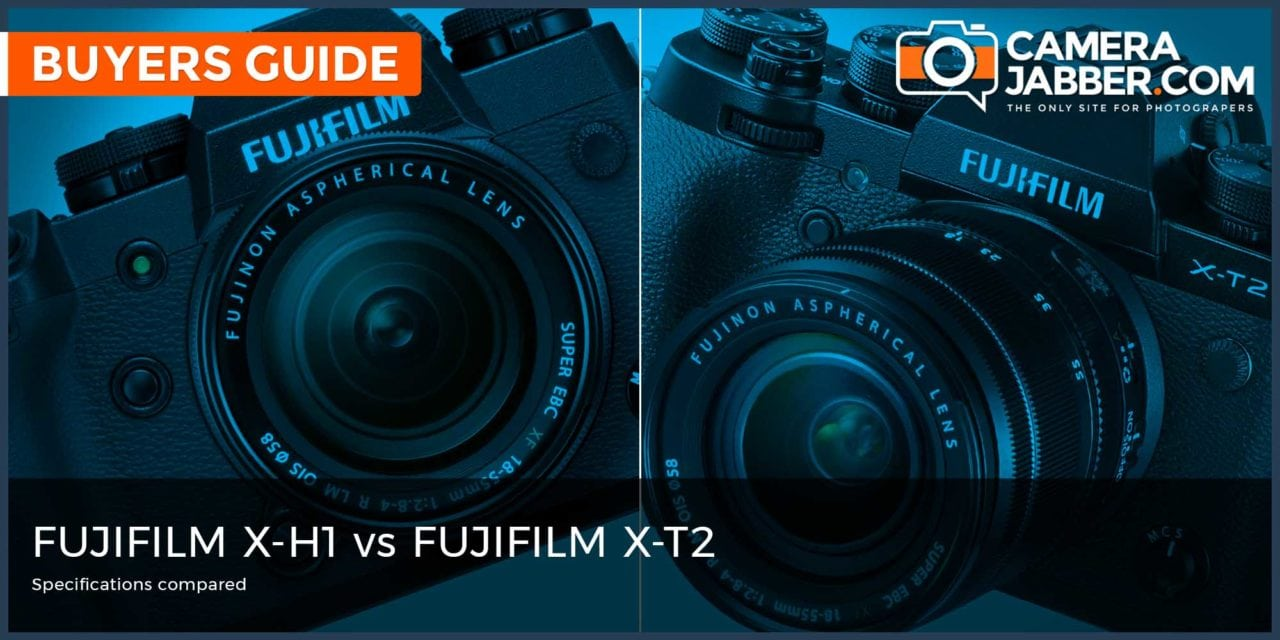 Fujifilm X-H1 vs Fujifilm X-T2: Key Specs Compared