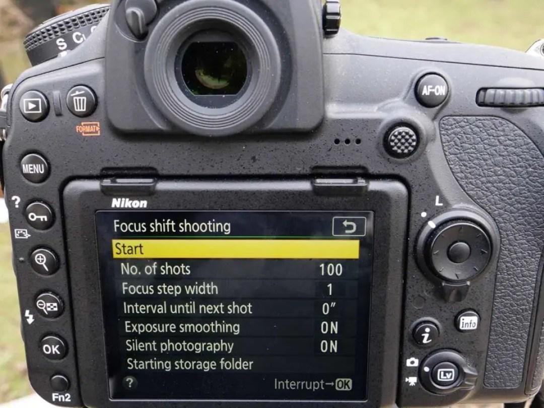 Nikon 850 Focus Shift: Start shooting