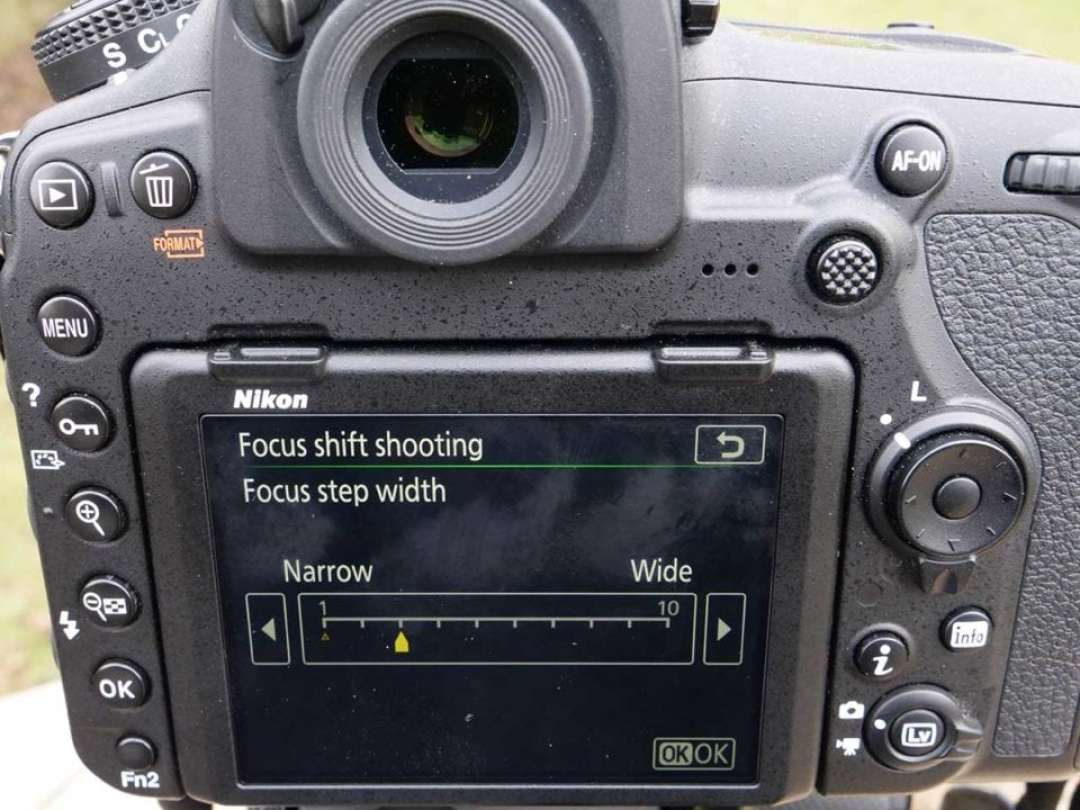 Nikon 850 Focus Shift: 02 Set the width of your focus step